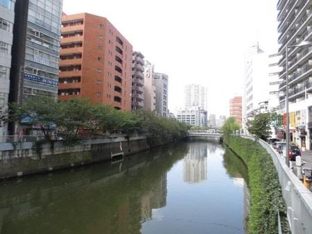 お花見名所、目黒川。