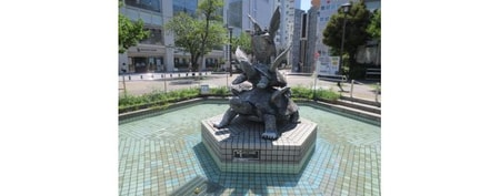 HANEKAME公園の噴水