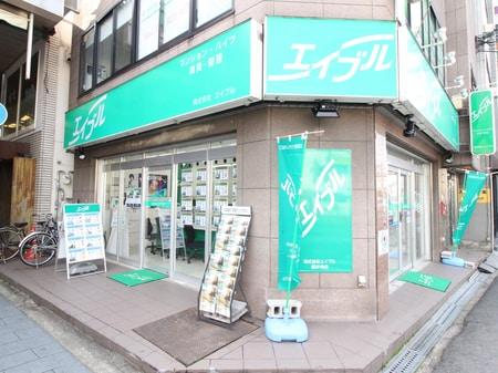 当店は藤井寺一番街(商店街)の入り口の角に立地しております。緑の看板が目印です。