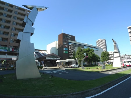 ふじみ野駅東口駅前風景 バス路線拡大し利便性抜群