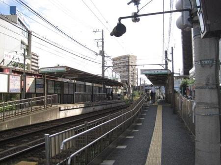 都電荒川線町屋駅前です。千代田線2番出口階段上ったところにあります。